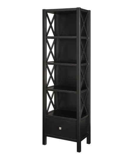 Black Anna Five-Shelf Bookcase