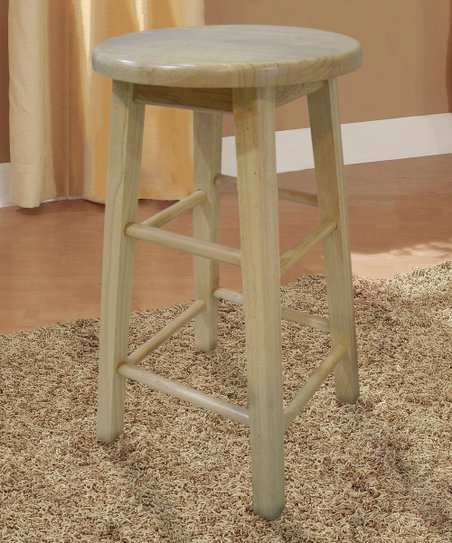 Natural Round Counter Stool
