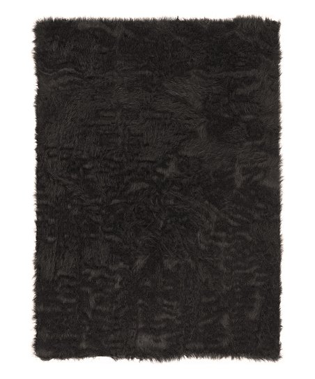 Dark Chocolate Faux Sheepskin Rug