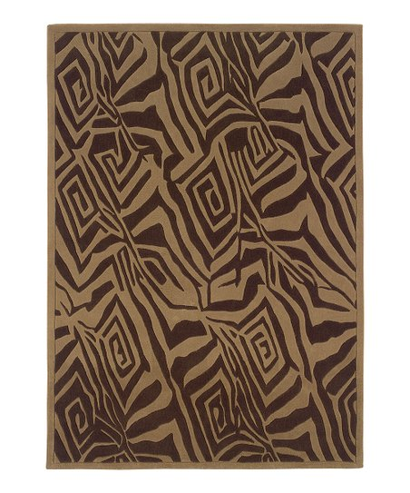 Beige & Brown Trio Rug