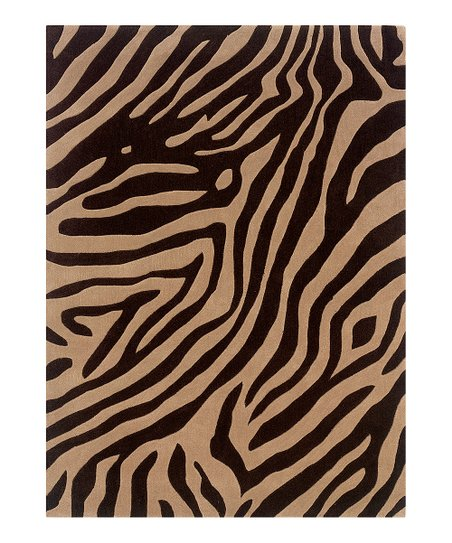 Beige & Brown Tiger Trio Rug