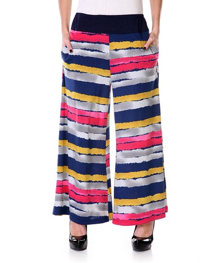 Navy & Gold Stripe Pants