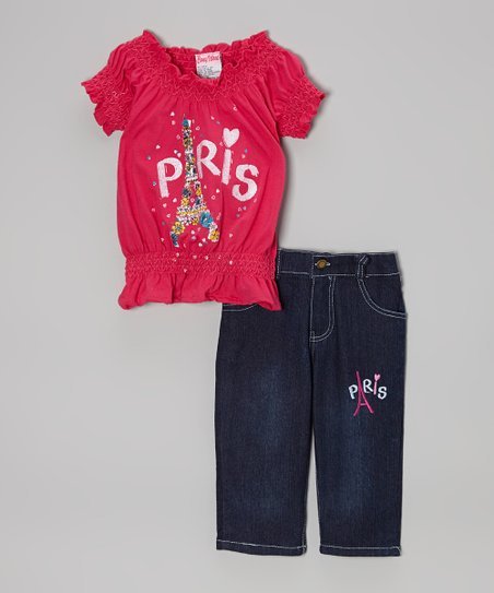 Fuchsia 'Paris' Top & Capri Pants - Infant, Toddler & Girls