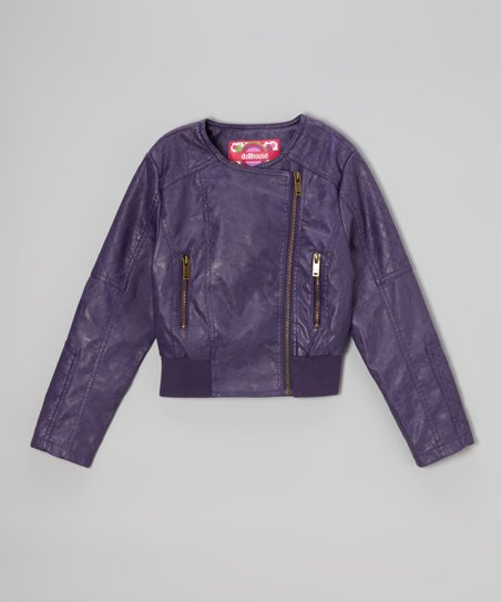 Plum Asymmetrical Jacket - Infant, Toddler & Girls
