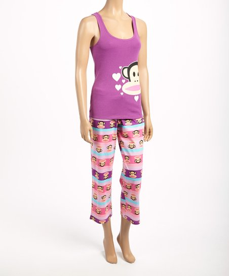 Purple Julius Tank Pajama Set - Women