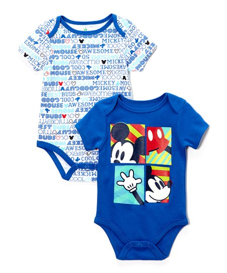 Blue Mickey Mouse Bodysuit Set - Infant