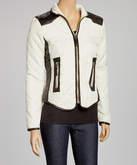 Cream Puffer Jacket - Women