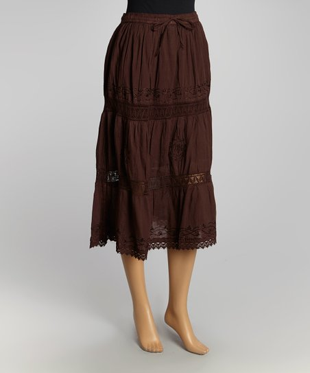 Brown Peasant Skirt