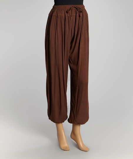 Brown Drawstring Pants