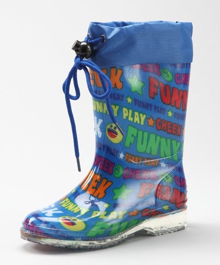 Blue Crazy Rain Boot - Kids