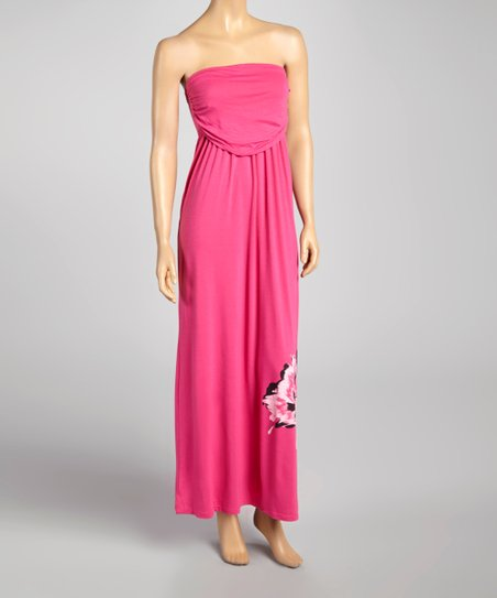 Peony Ruched Band Flower Maxi Dress