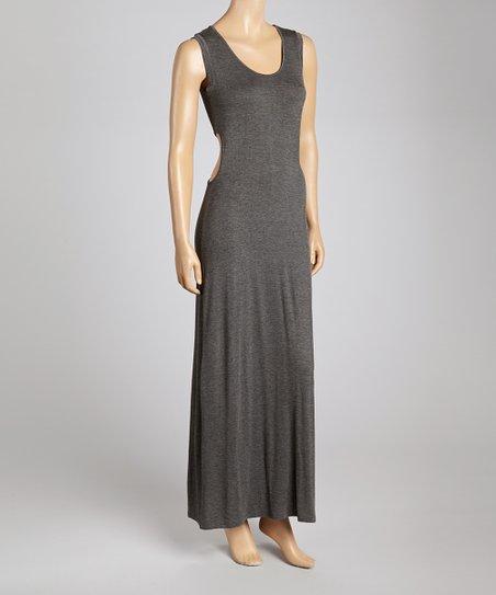 Charcoal Sleeveless Maxi Dress