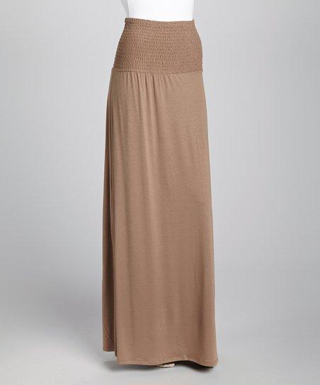 Mocha Maxi Skirt