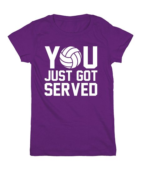 Purple 'You Just Got Served' Tee – Girls