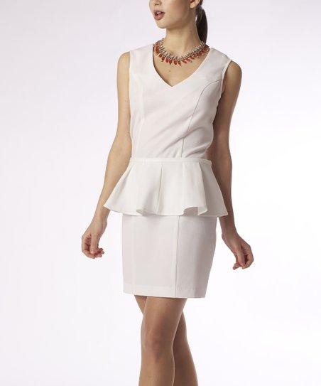 Ivory Bleecker Peplum Dress - Women