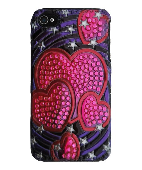 Pink 3-D Heart Case for iPhone 4/4s
