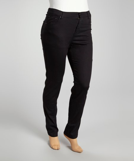 Black Denim Skinny Jeans - Plus