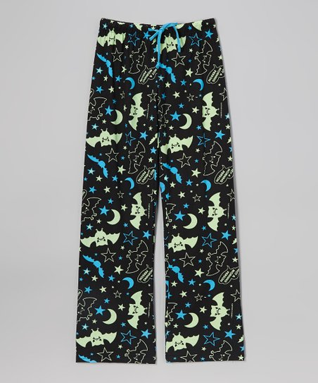 Black 'Not a Morning Person' Pants - Girls
