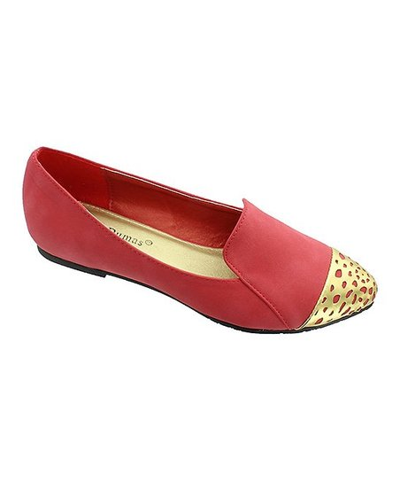 Red & Gold Toe Loafer