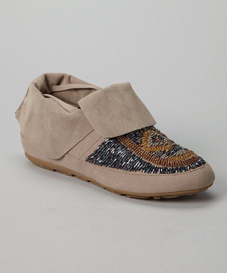 Taupe Tribe Moccasin