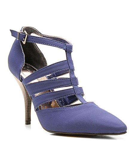 Blue Cutout Too Columbus Heel