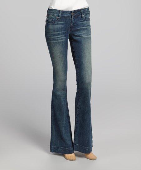 Light Blue Whisker Brenda Flare Jeans