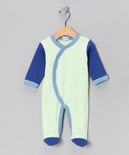 Loralin Design Seagreen & Royal Blue Footie - Infant