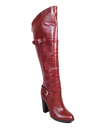 Chestnut Motive Over-the-Knee Boot