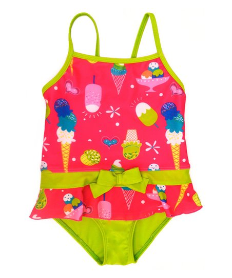 Fuchsia Ice Cream Skirted One-Piece - Infant & Toddler