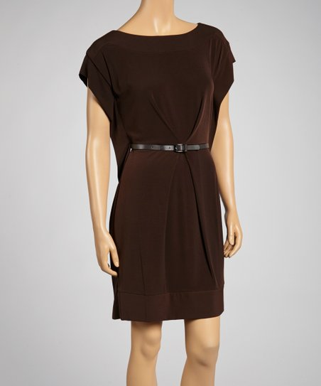 Java Belted Boatneck Dress