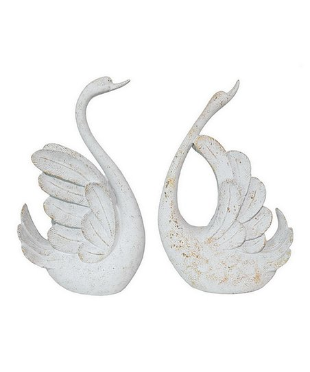 White Swan Figurine Set