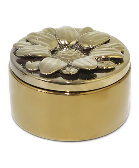 Gold 2.25'' Ceramic Covered Box