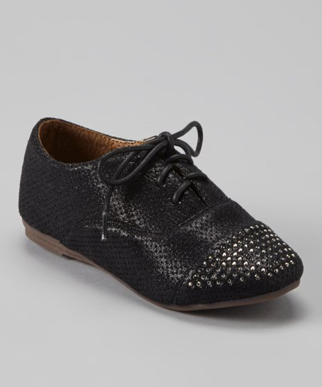 Black Studded Oxford Dress Shoe