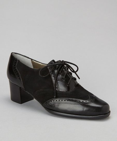 Black Suede Nellie Oxford