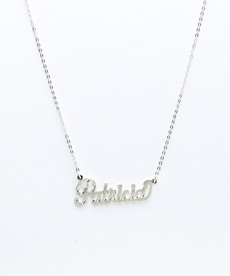 Sterling Silver Diamond-Cut Personalized Pendant Necklace