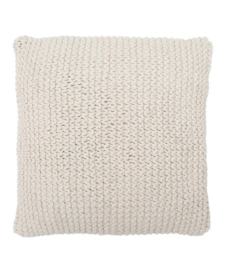 Natural Nessie Knitted Pillow Throw Pillow