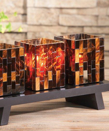 Stand & Mosaic Candleholder Set