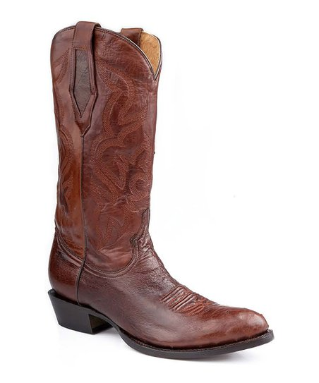 Brown Leather Cowboy Boot - Men