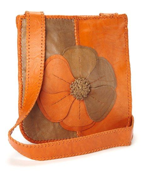 Orange & Tan Natalie Messenger Bag