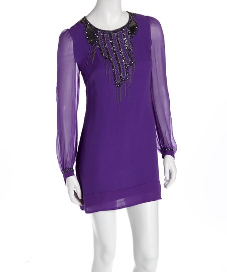 Parachute Purple Rockafella Beaded Tunic