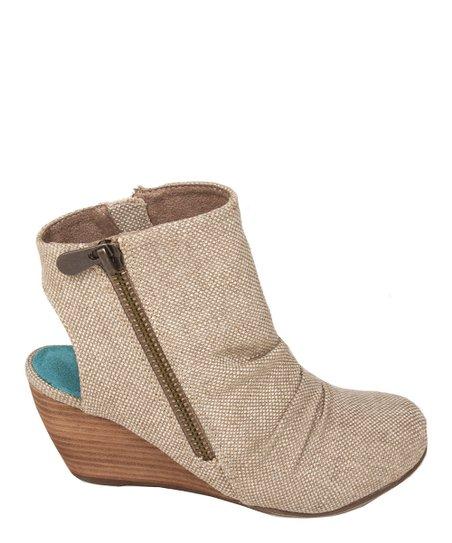 Bark Roughout Canvas Bainbridge Wedge Boot