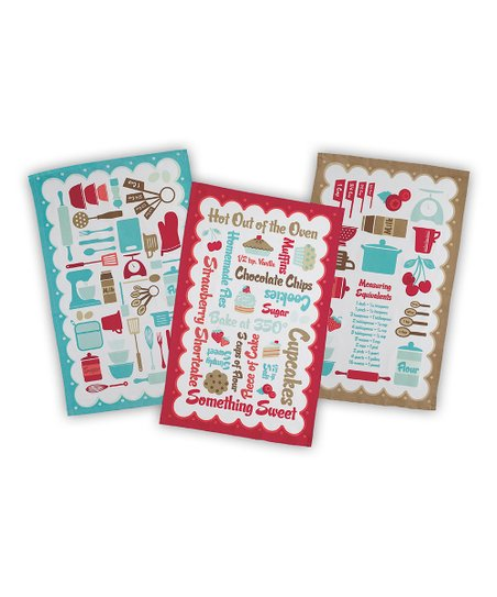 Retro Kitchen Dish Towel Set