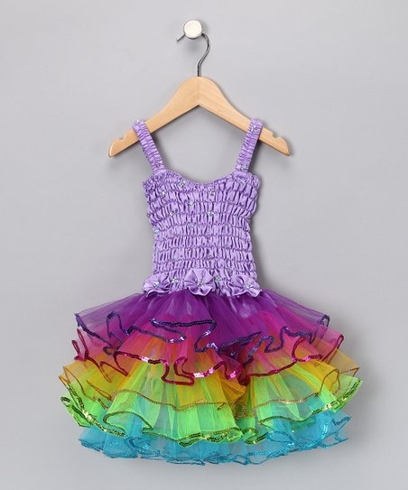 Purple Rainbow Lily Tutu Dress - Infant, Toddler & Girls