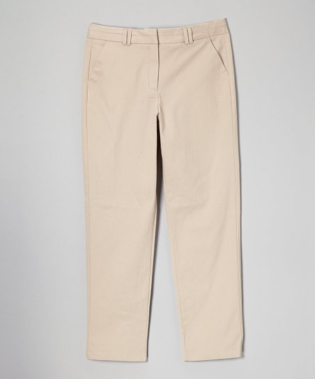 Khaki Stretch Skinny Pants - Girls' Plus