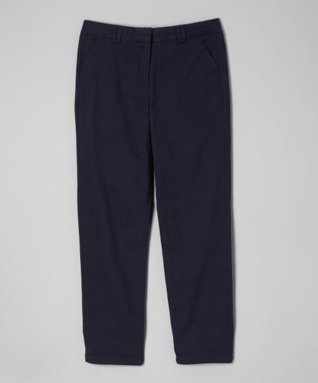 Navy Stretch Skinny Pants - Girls' Plus