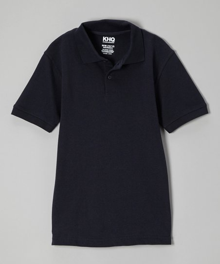 Navy Short-Sleeve Polo - Boys