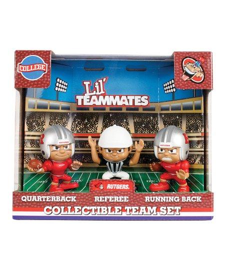 Rutgers Scarlet Knights Lil' Teammates Figurine Set