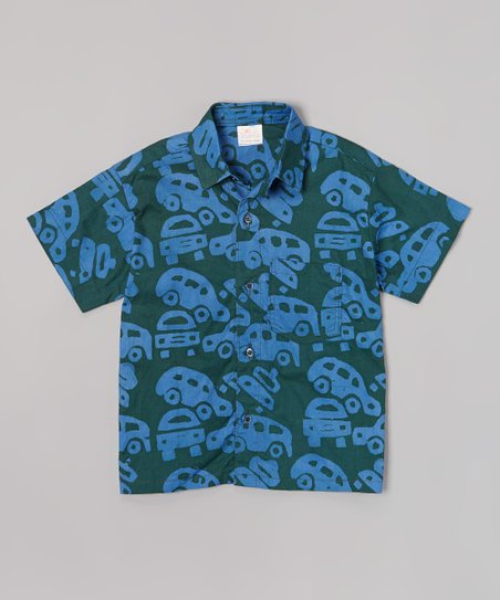 Olive Cars Button-Up - Infant, Toddler & Boys
