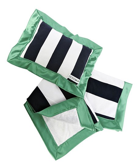 Kelly Green Stroller Blanket &amp; Pillow