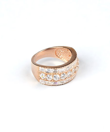 Sparkle & Rose Gold Triple Row Cocktail Ring
